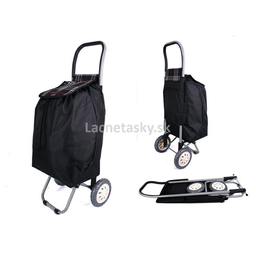 6d130bbe148e5 Nákupná taška na kolieskach Lorenz Black Check 36 l