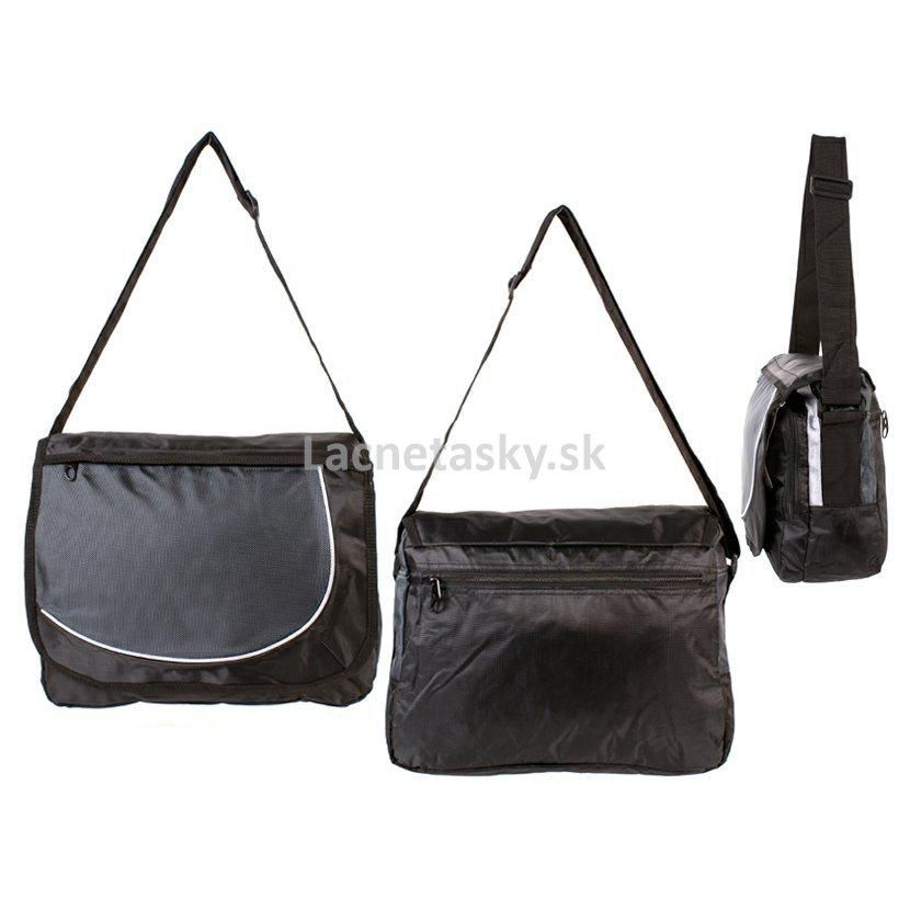0493a9472f ... Školská taška cez rameno Silver Rock Shoulder Bag Black Grey. HB-S-03 BLACK  GREY.jpg