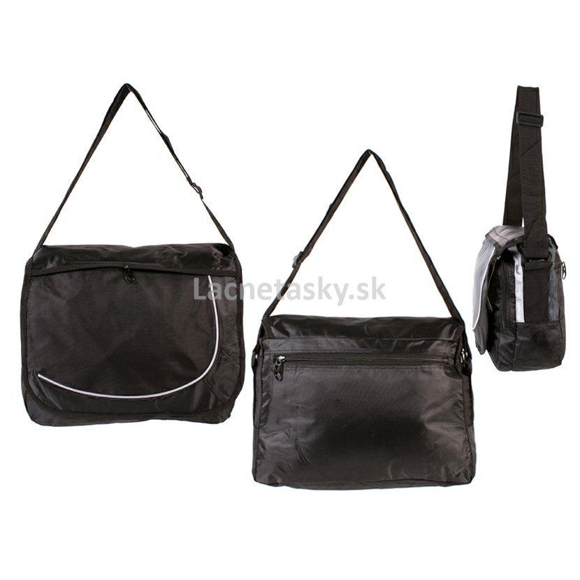 b8a789d7a9 ... Školská taška cez rameno Silver Rock Shoulder Bag Black. HB-S-03 BLACK .jpg