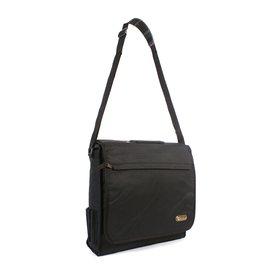 1e8c6158bc Plátená taška cez rameno HI-TEC Black 13 l