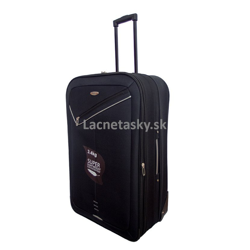 83114462deb22 Ultraľahký cestovný kufor s kolieskami Borderline Black Grey 47 l