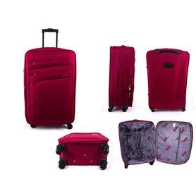 0b49985bea628 Látkový cestovný kufor s kolieskami Borderline Wine Red 42 l
