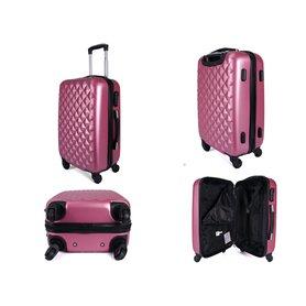 96752b52f4c80 Plastový cestovný kufor do lietadla Borderline Pink 49 l