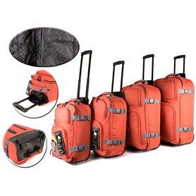 ad0bef4b7f286 Sada 4 ultraľahkých kufrov na kolieskach Borderline Orange Grey