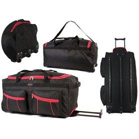 ce385a8e7d Cestovná taška na kolieskach Silver Rock Black Red 119 l